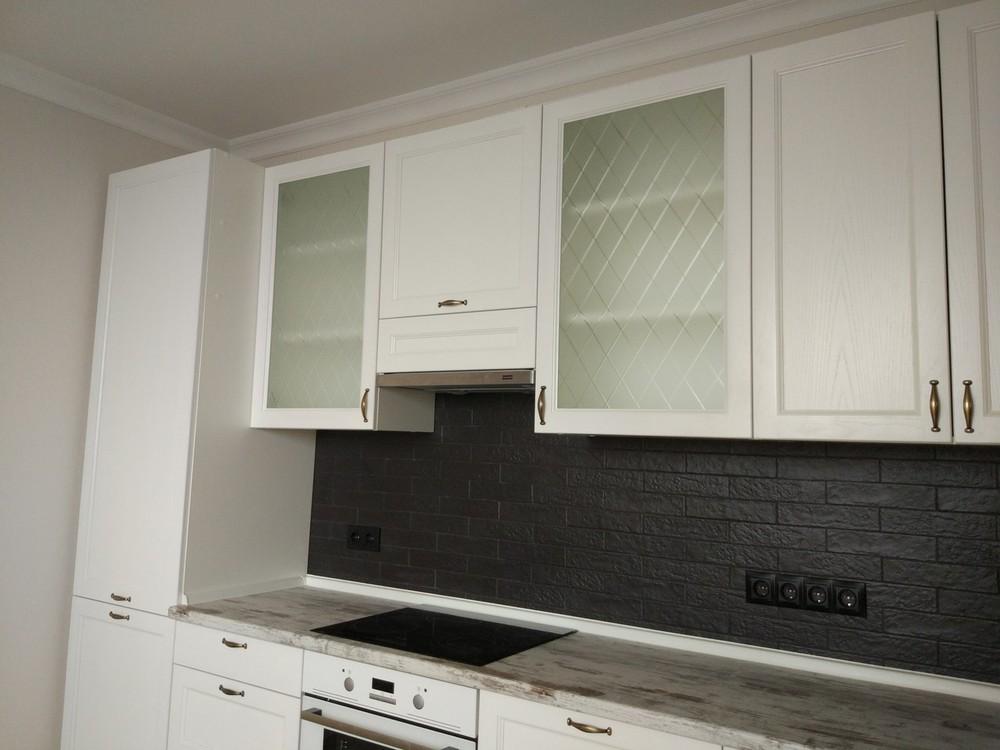 Белый кухонный гарнитур-Кухня из массива «Модель 218»-фото4