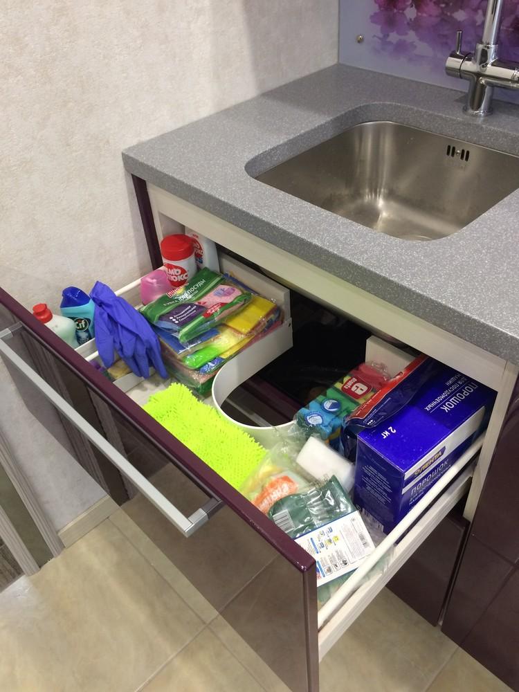 Акриловые кухни-Кухня из пластика «Модель 110»-фото9