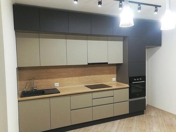 Белый кухонный гарнитур-Кухня МДФ в ПВХ «Модель 99»-фото1