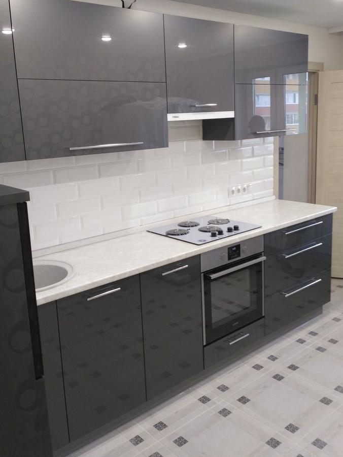 Акриловые кухни-Кухня из пластика «Модель 98»-фото1