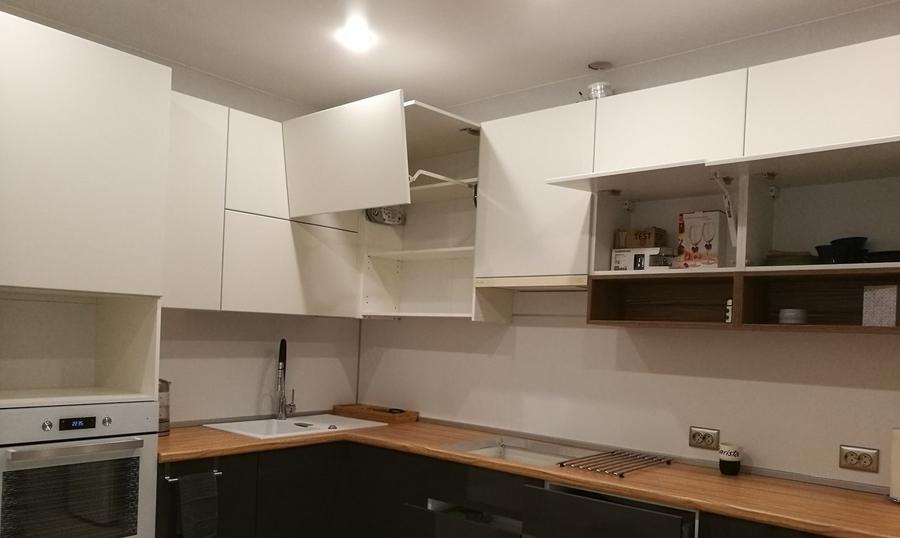 Белый кухонный гарнитур-Кухня МДФ в эмали «Модель 456»-фото3