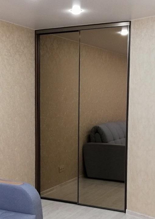 Бельевой шкаф-купе-Шкаф-купе с зеркалом «Модель 269»-фото1
