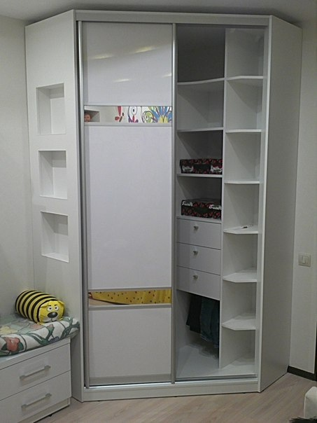 Белые шкафы-купе-Шкаф-купе из ЛДСП «Модель 379»-фото2
