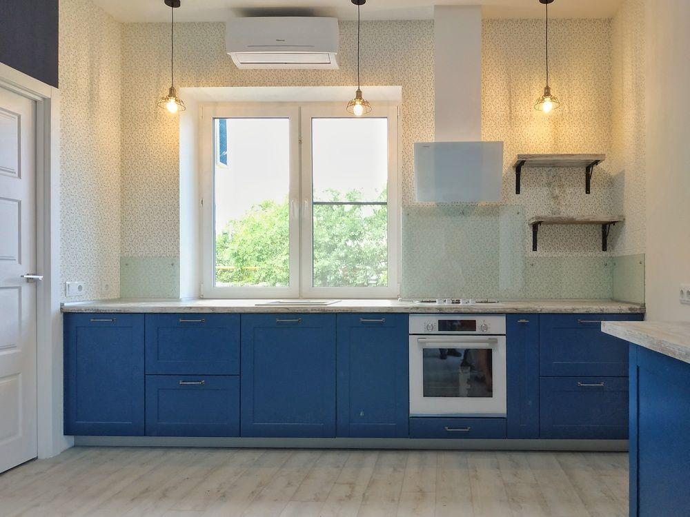 Встроенная кухня-Кухня МДФ в эмали «Модель 528»-фото2