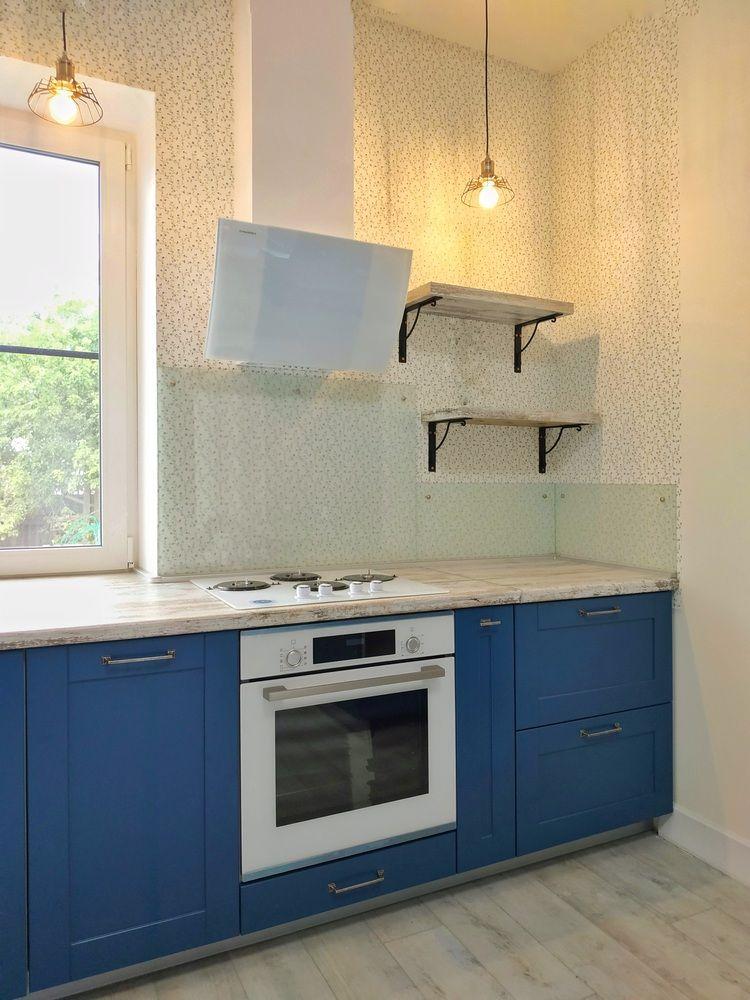 Встроенная кухня-Кухня МДФ в эмали «Модель 528»-фото3