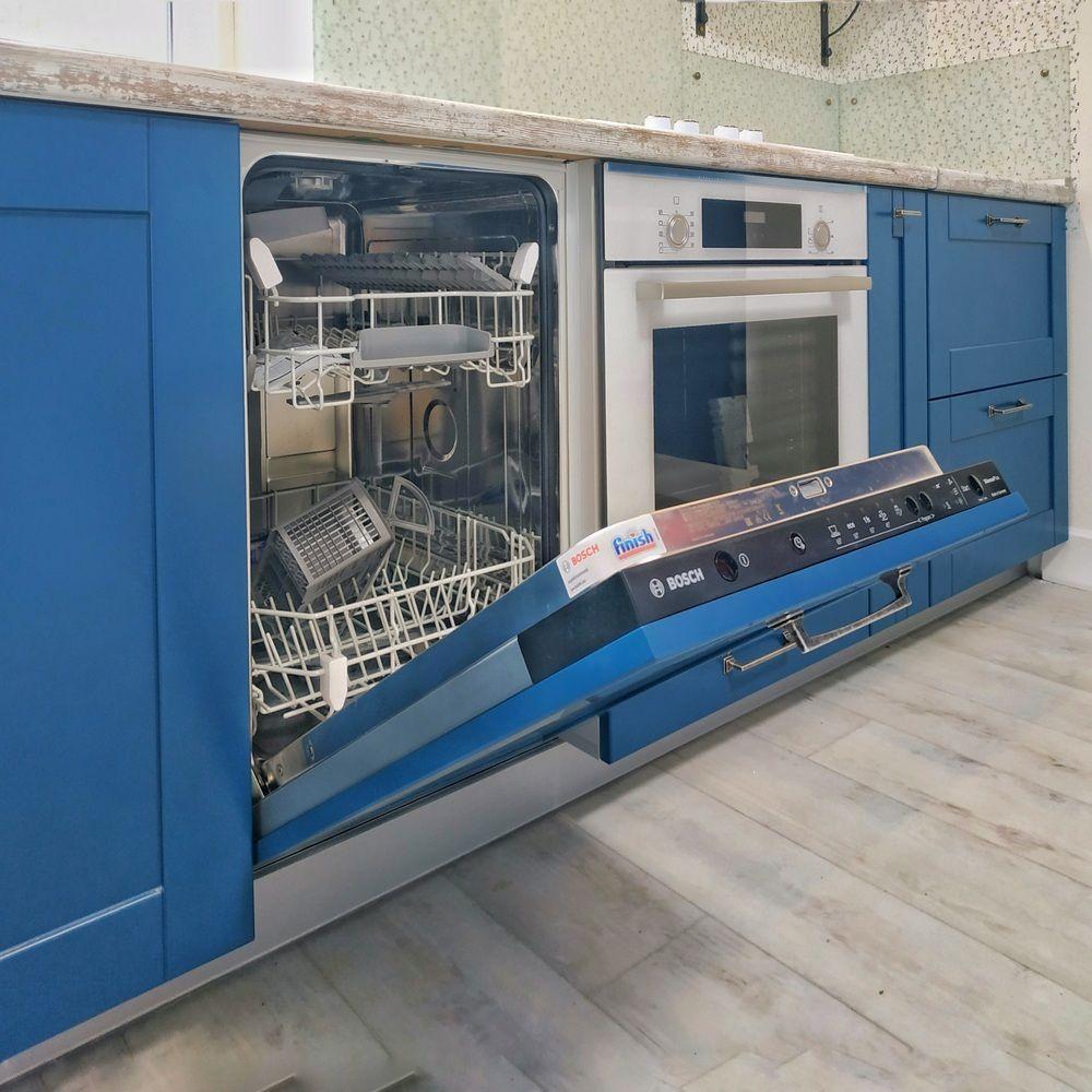 Встроенная кухня-Кухня МДФ в эмали «Модель 528»-фото7