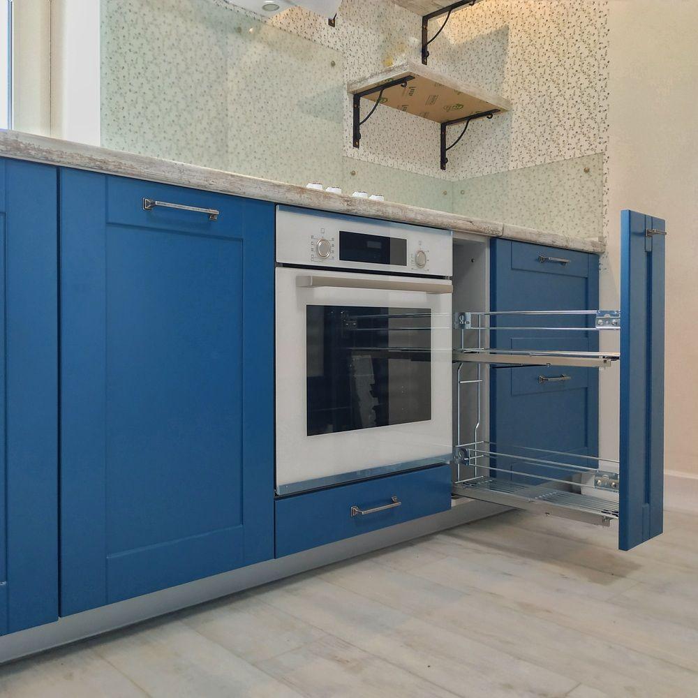 Встроенная кухня-Кухня МДФ в эмали «Модель 528»-фото4