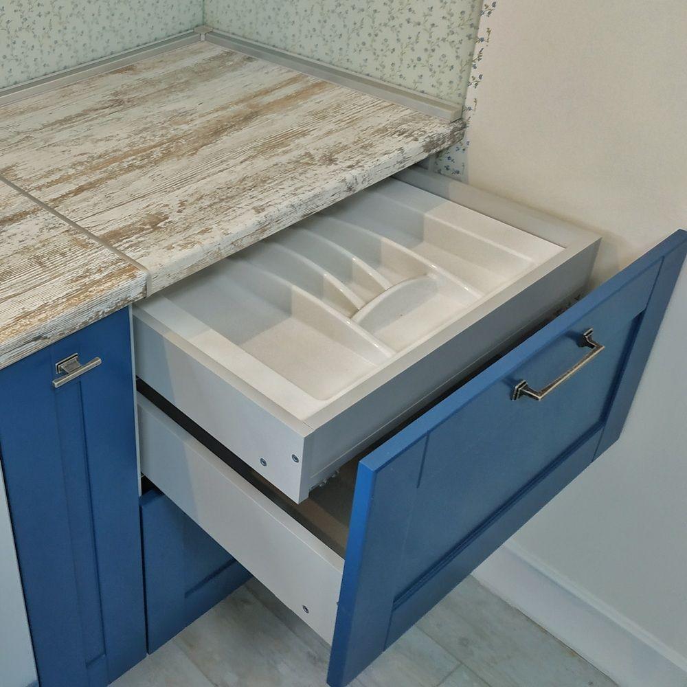 Встроенная кухня-Кухня МДФ в эмали «Модель 528»-фото6
