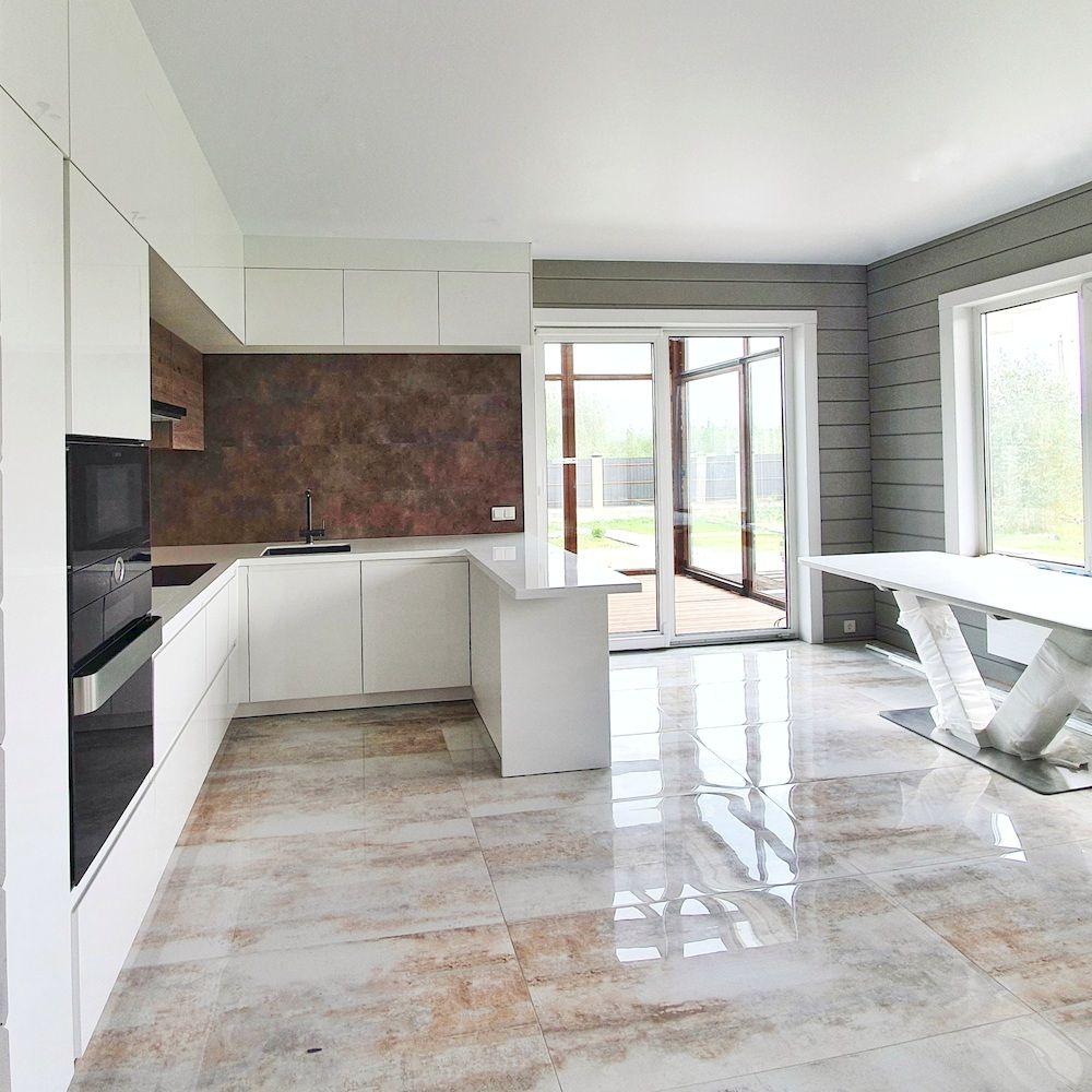 Белый кухонный гарнитур-Кухня МДФ в эмали «Модель 533»-фото3