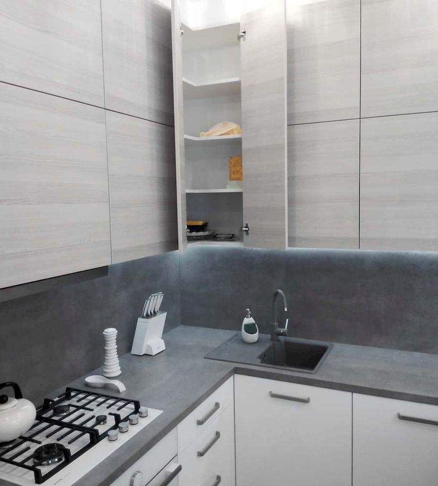 Белый кухонный гарнитур-Кухня из ЛДСП «Модель 650»-фото3