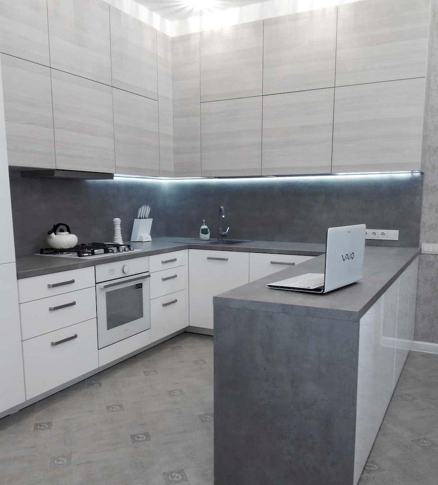 Белый кухонный гарнитур-Кухня из ЛДСП «Модель 650»-фото2