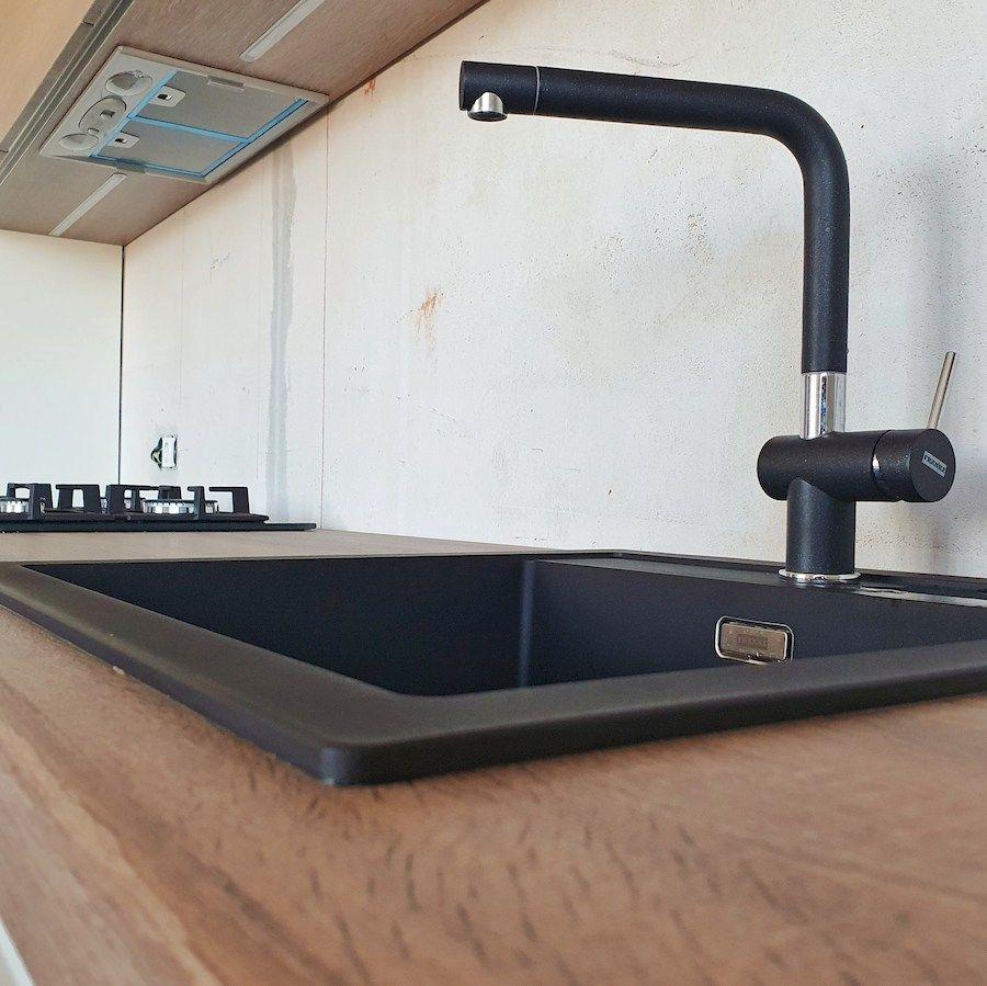 Белый кухонный гарнитур-Кухня МДФ в эмали «Модель 545»-фото9