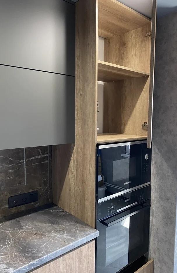 Встроенная кухня-Кухня из пластика «Модель 567»-фото3