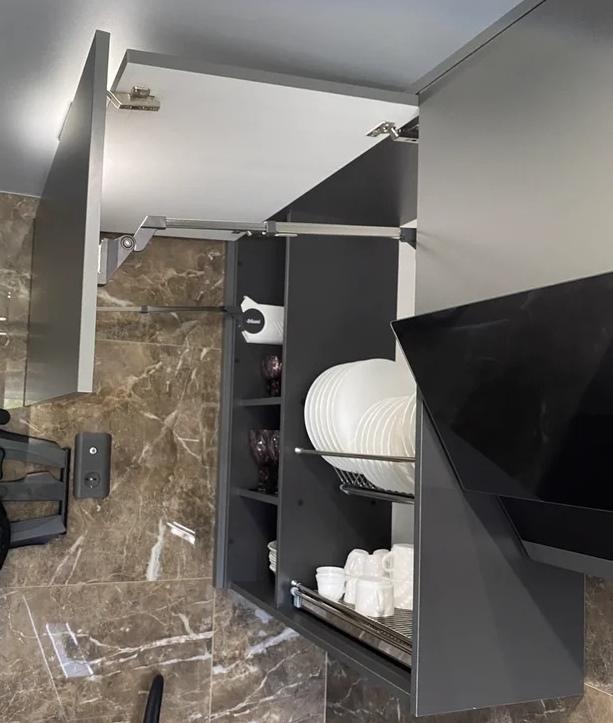 Встроенная кухня-Кухня из пластика «Модель 567»-фото4