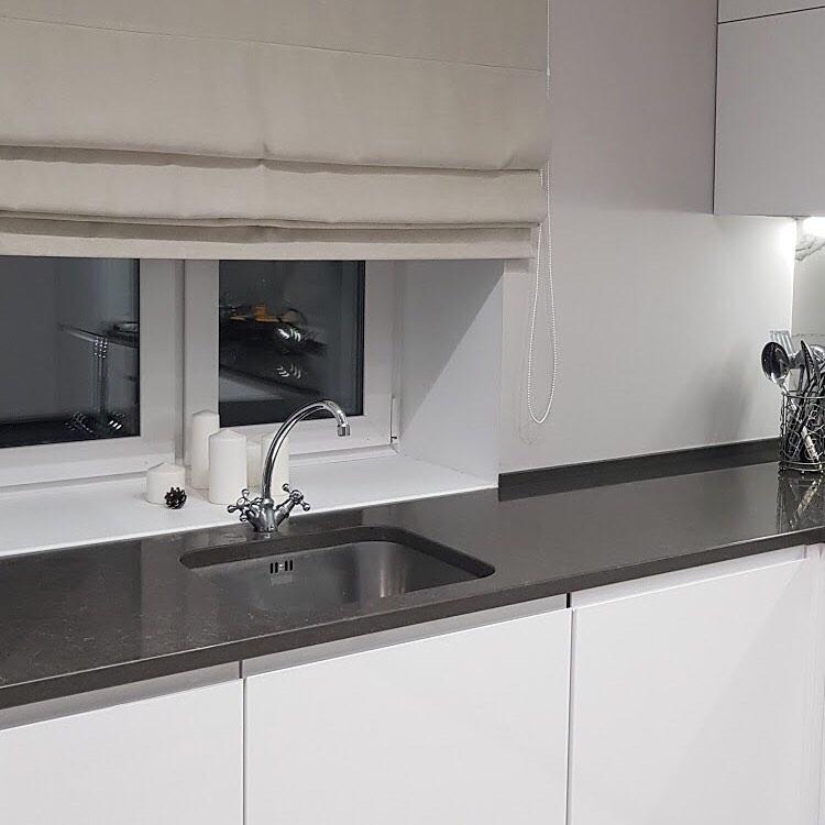 Белый кухонный гарнитур-Кухня МДФ в эмали «Модель 592»-фото4