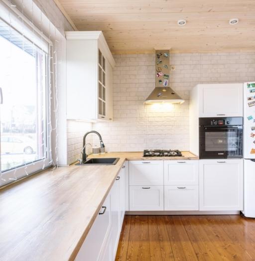 Белый кухонный гарнитур-Кухня МДФ в эмали «Модель 402»-фото5