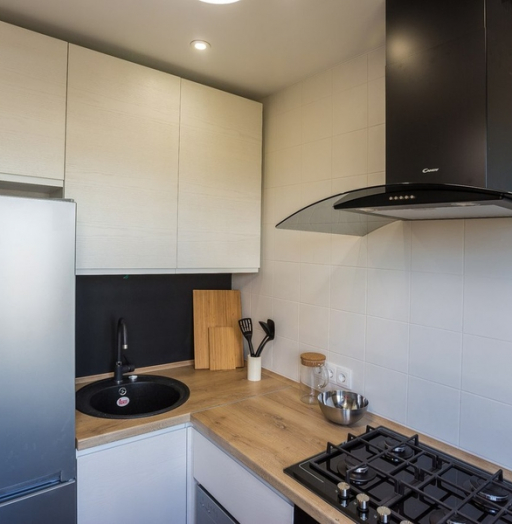 Белый кухонный гарнитур-Кухня МДФ в эмали «Модель 458»-фото3