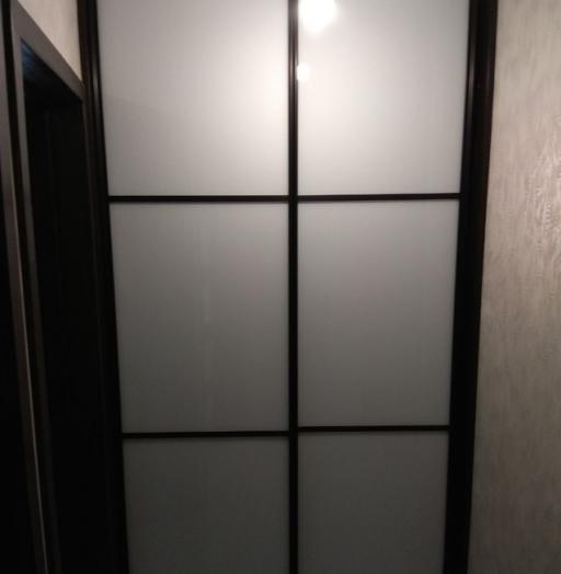 Бельевой шкаф-купе-Шкаф-купе из стекла Лакобель «Модель 392»-фото3