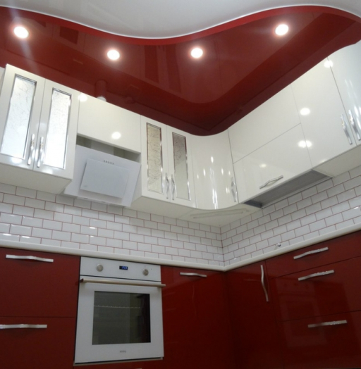 Белый кухонный гарнитур-Кухня из пластика «Модель 365»-фото8