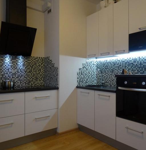 Акриловые кухни-Кухня из пластика «Модель 131»-фото3