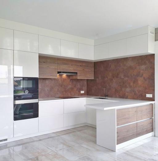 Белый кухонный гарнитур-Кухня МДФ в эмали «Модель 533»-фото11